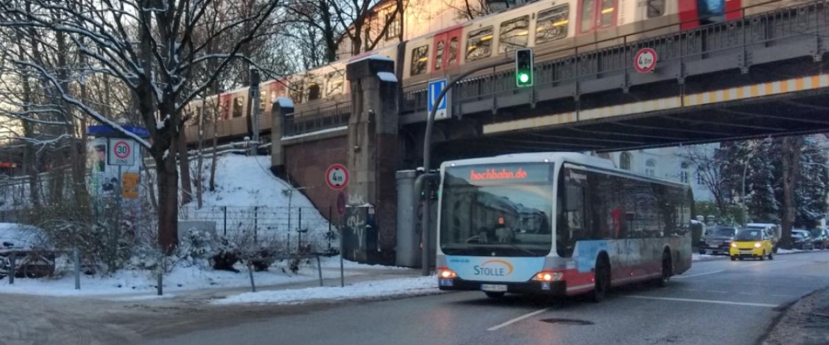 Titelbild Schnee Hochbahn