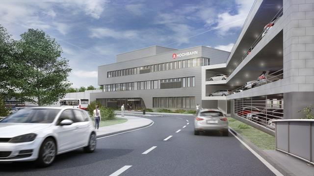 Visualisierung Busbetriebshof Gleisdreieck Verwaltungsgebäude