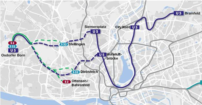 U5 und S-Bahn