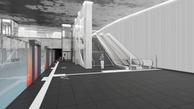Liniendesign U5 Ost - Bahnsteig