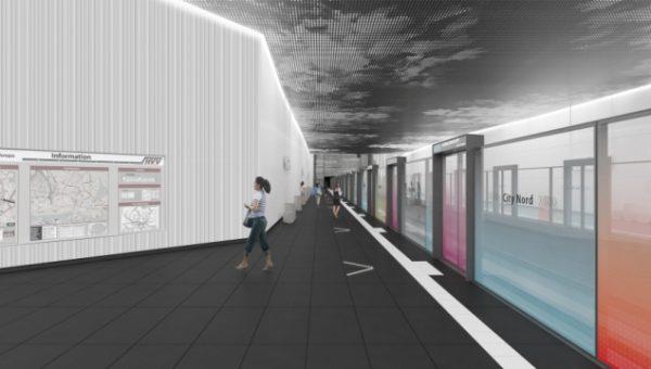 Liniendesign U5 Ost - Bahnsteigtüren