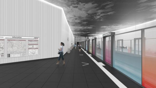 Liniendesign U5 Ost Bahnsteigtüren Titel