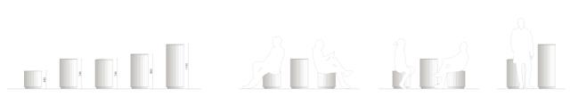 Liniendesign U5 Ost - Möbel