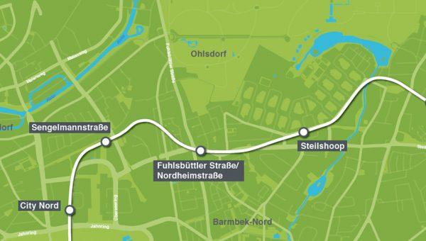 U5 Ost Fuhlsbüttler Straße_Nordheimstraße