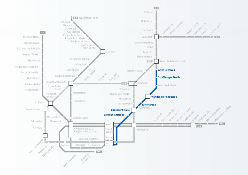 U1 östlicher Ast Barrierefreier Ausbau U-Bahn