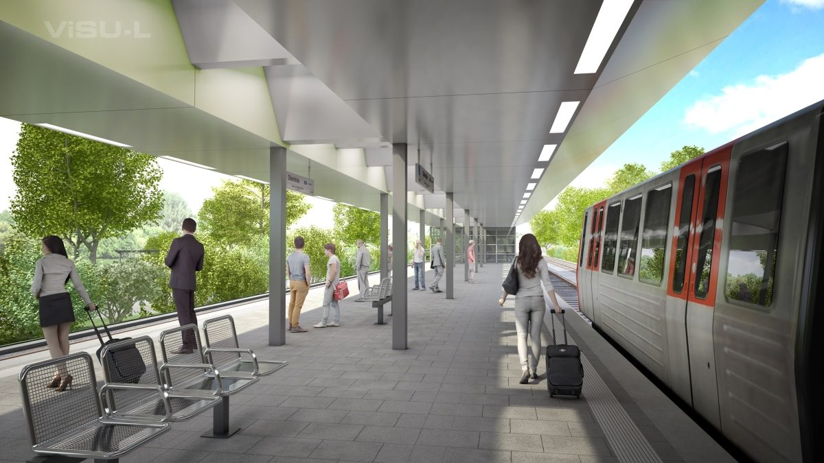 U1 Oldenfelde Bahnsteig