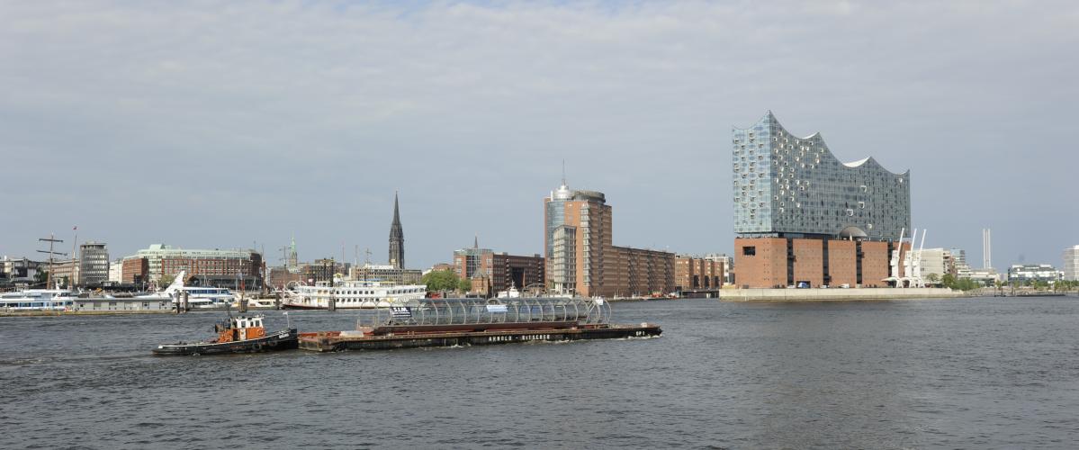 Skywalk Elbbrücken auf der Elbe