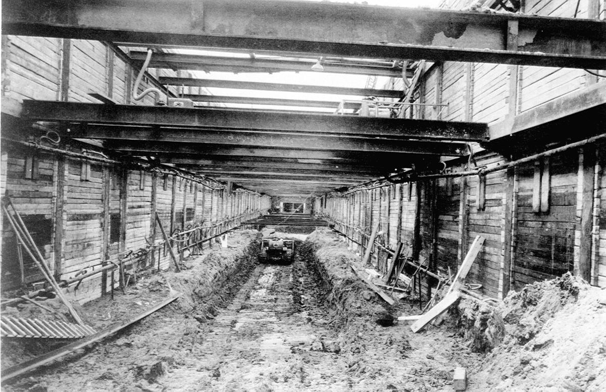 Blick in eine Tunnelbaustelle