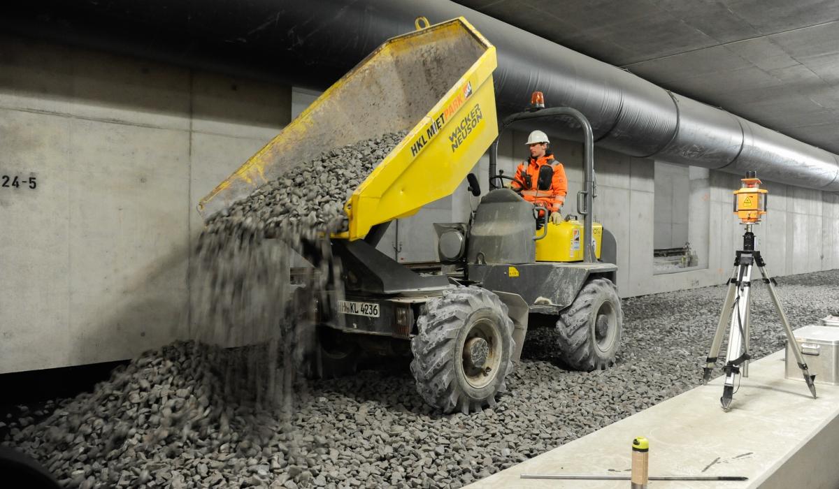 Gleisbau Kehr- und Abstellanlage U4 Elbbrücken