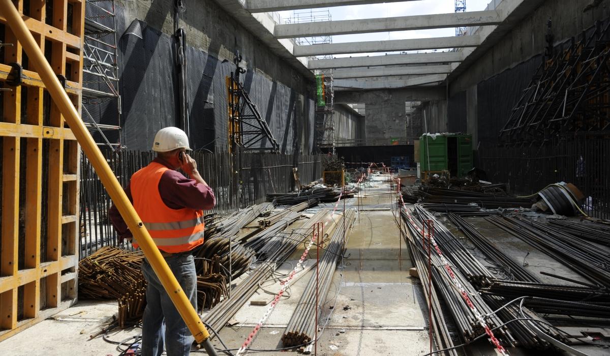 In der Baugrube U4 Elbbrücken