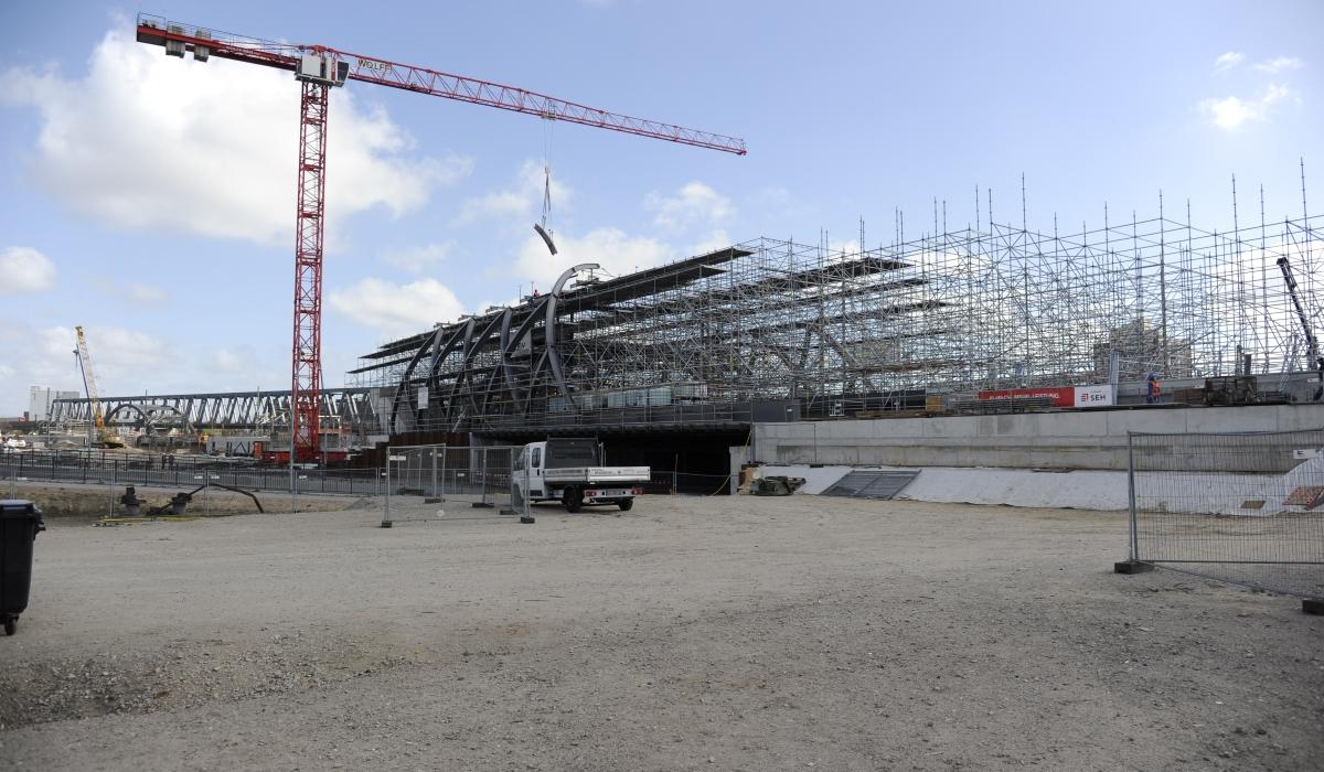 Stahlkonstruktion U4 Elbbrücken Bau