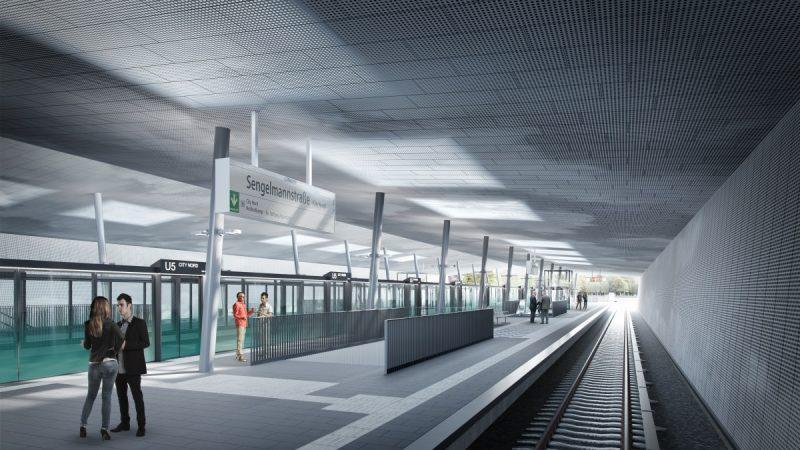 U5 Ost Sengelmannstraße Bahnsteig