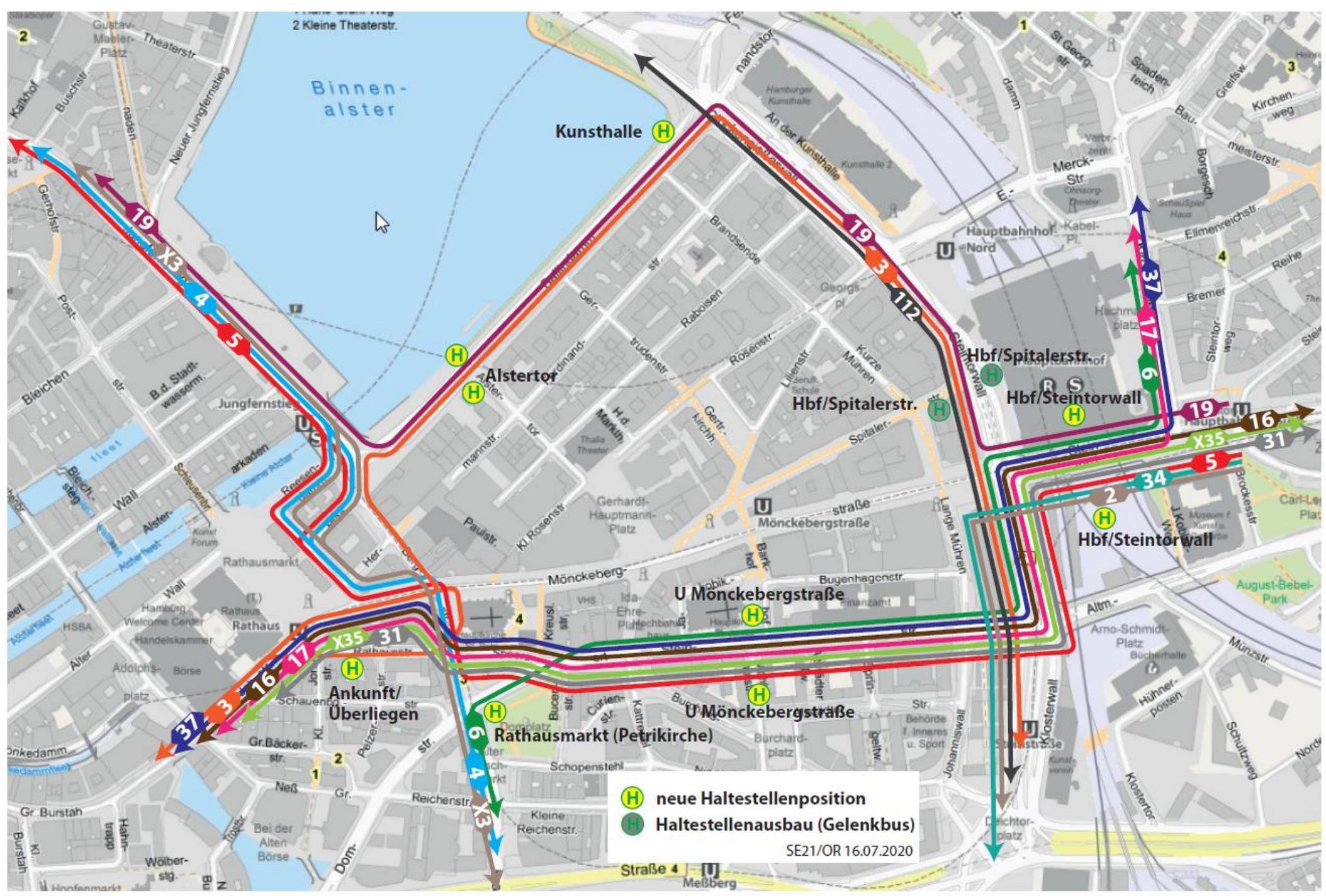 Neues Verkehrskonzept Hamburgs Innenstadt