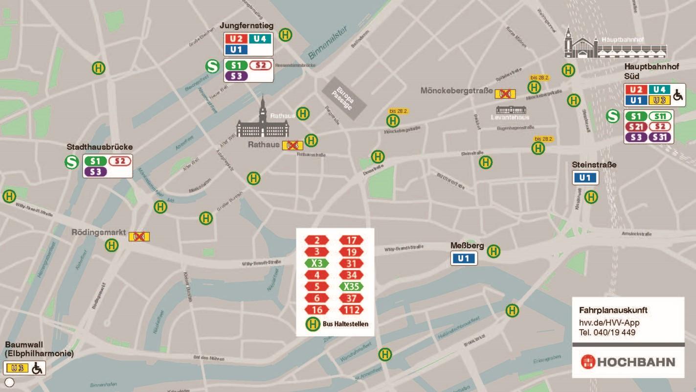 Fahralternativen zur U3 in der Innenstadt