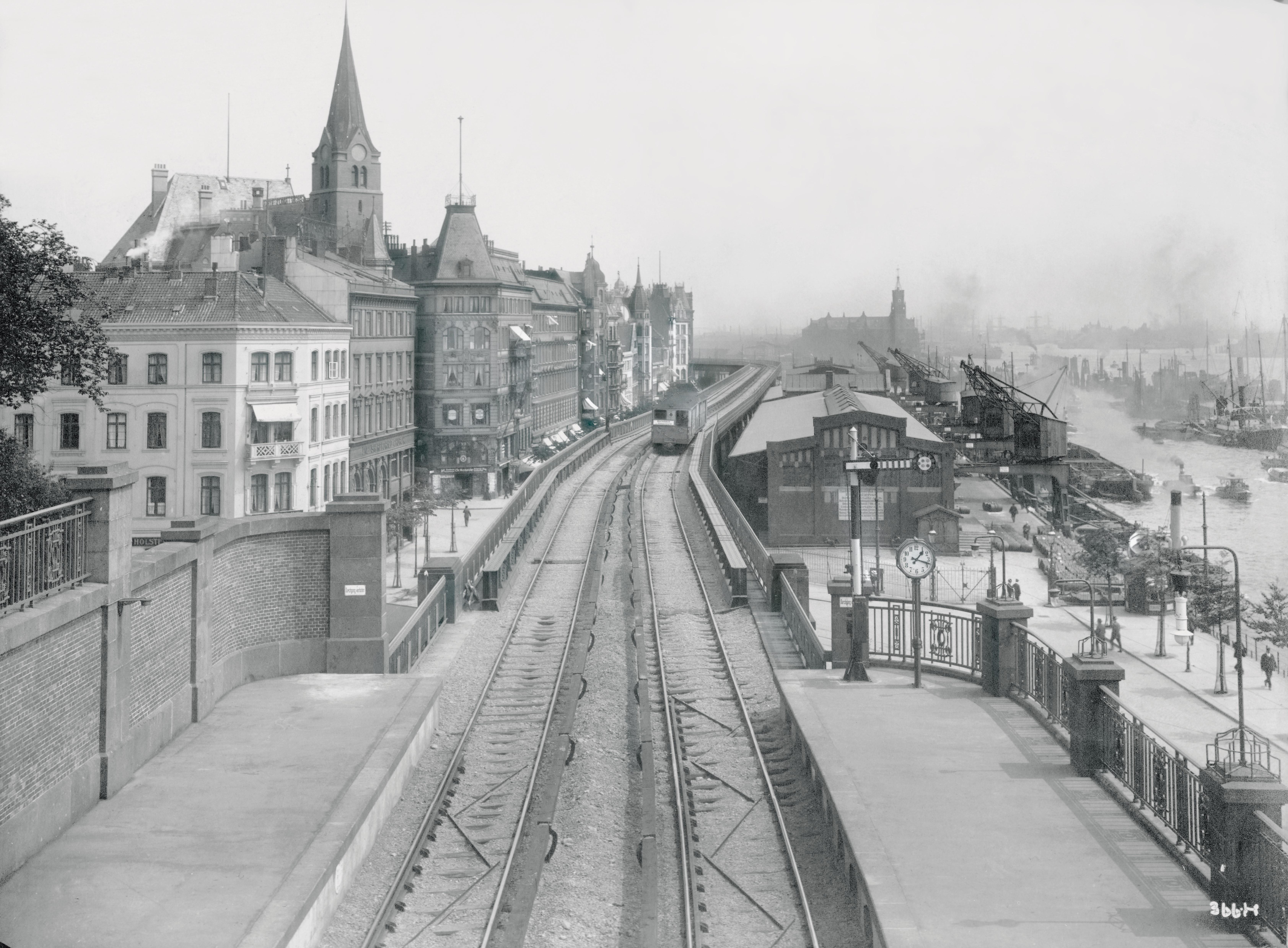 Haltestelle Landungsbrücken 1912