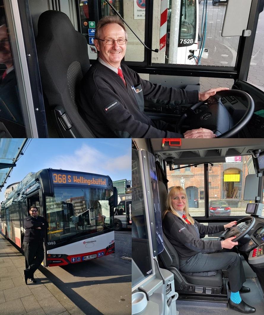 Busfahrer*innen der Hochbahn
