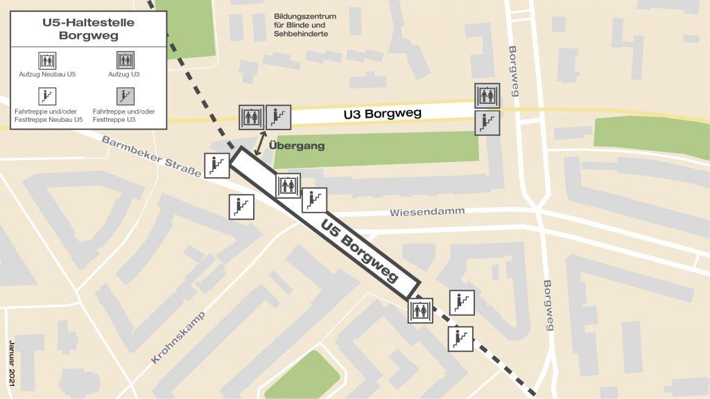 U5-Haltestelle Borgweg