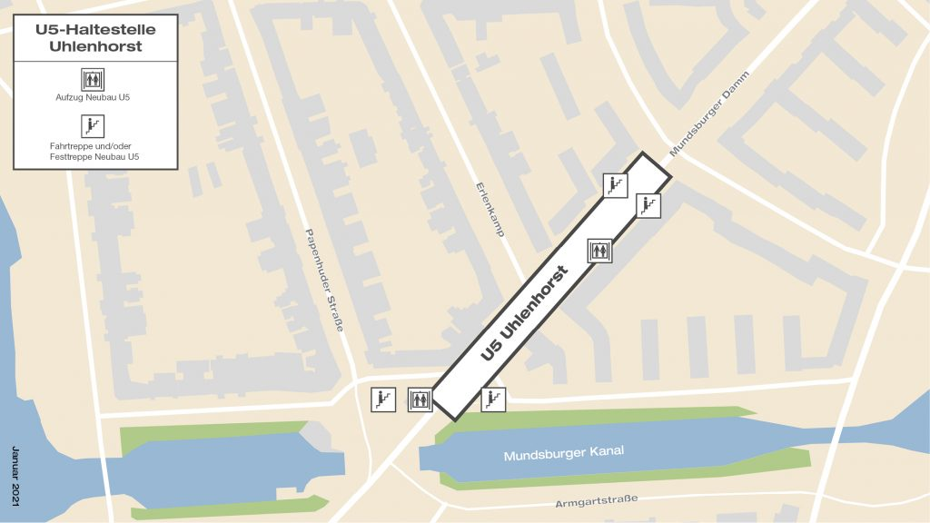 U5-Haltestelle Uhlenhorst