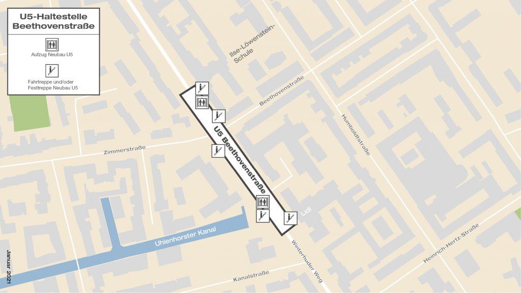U5-Haltestelle Beethovenstraße