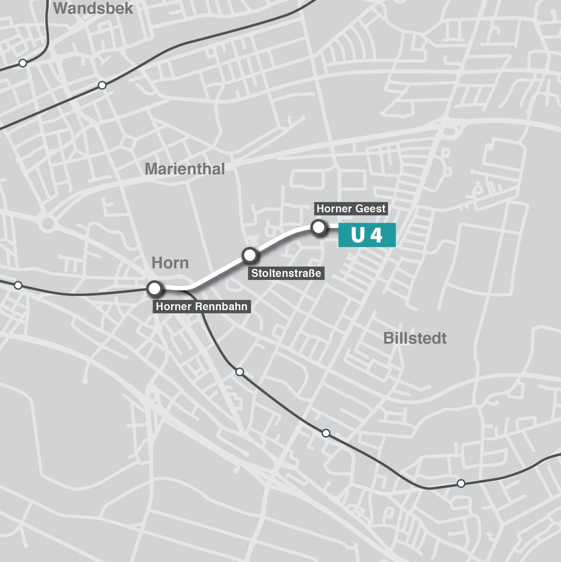 U4-Verlängerung auf die Horner Geest
