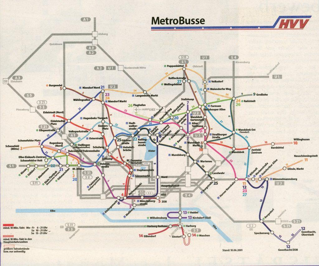 MetroBus-Netz 2001