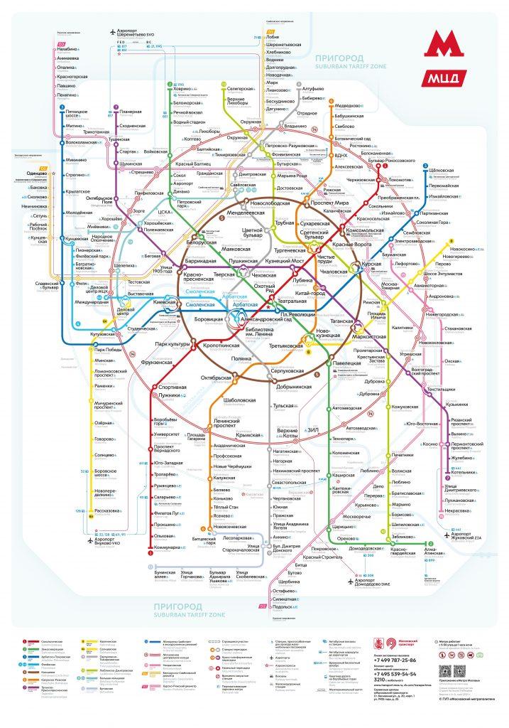 Schnellbahnplan Moskau