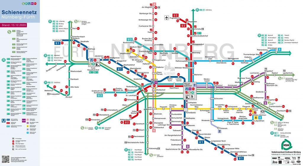 Schnellbahnplan Nürnberg